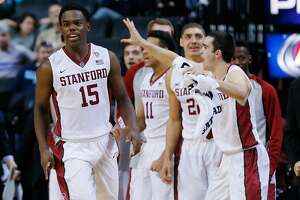 Stanford men's basketball rallies past Arkansas - Photo