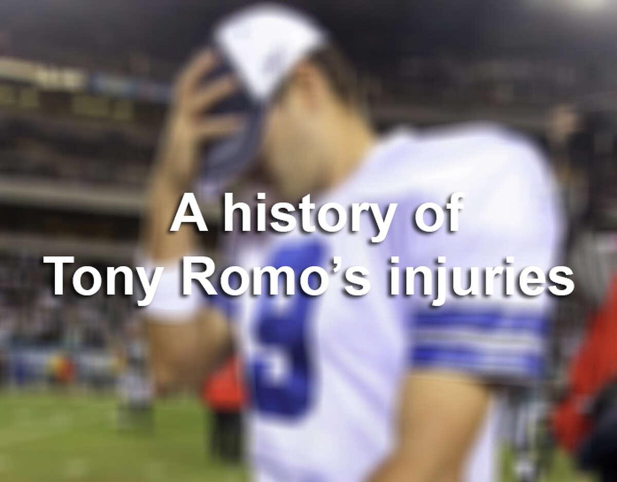 A history of Tony Romo's Injuries.