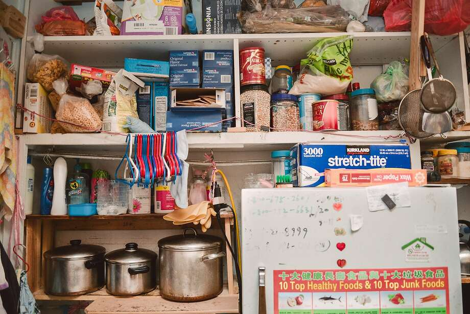 Ivy Gao's kitchen in her small unit  in a Chinatown single-room occupancy hotel. Photo: Tudor Stanley