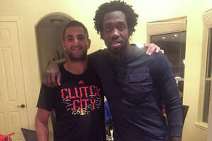 Pat Beverley has a fan over to his house to celebrate Thanksgiving - Photo