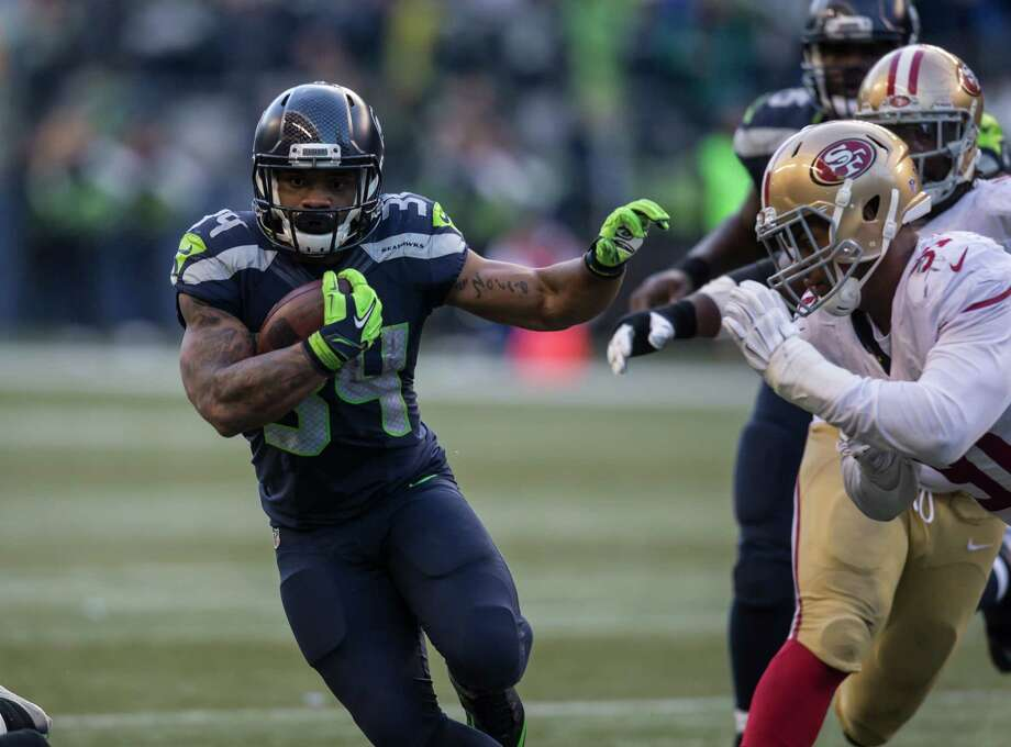 Player in focusOffense: RB Thomas RawlsCould there be any other choice? Rawls is the talk of the town at the moment after last week's monster effort that saw him rush for 209 yards, add another 46 receiving and score two total touchdowns in place of the injured Marshawn Lynch. The undrafted rookie has now rushed for 604 yards this season and is averaging 6.0 yards per carry. Perhaps more importantly, he runs with precisely the type of style and authority that Pete Carroll is looking for in a bellcow back for this offense. With Lynch's future up in the air due to his injury concerns, Rawls could be giving us a look at the wave of the future. Photo: Stephen Brashear, Getty Images / 2015 Getty Images