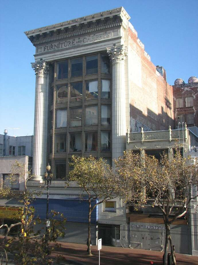 The resurgence of mid-Market has included the restoration of 1019 Market St., built in 1909 and tattered on the outside until two years or so ago. Photo: John King, The Chronicle