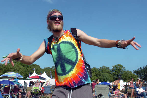 Dan Obey, of Newbury, NH dances to the music at last year's Gathering of the Vibes. Ken Hayes, founder and promoter of The Gathering of the Vibes, posted on the event's web site that after 20 years, the event would not be coming to Bridgeport in 2016.
