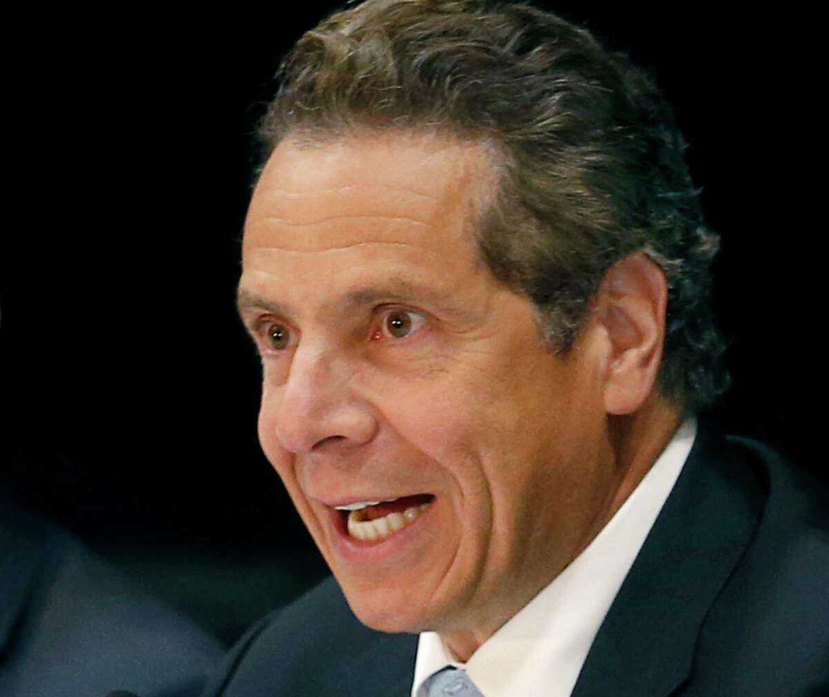FILE - In this July 9, 2015 file photo, Governor Andrew Cuomo speaks in Rochester, N.Y., on poverty and economic development during his