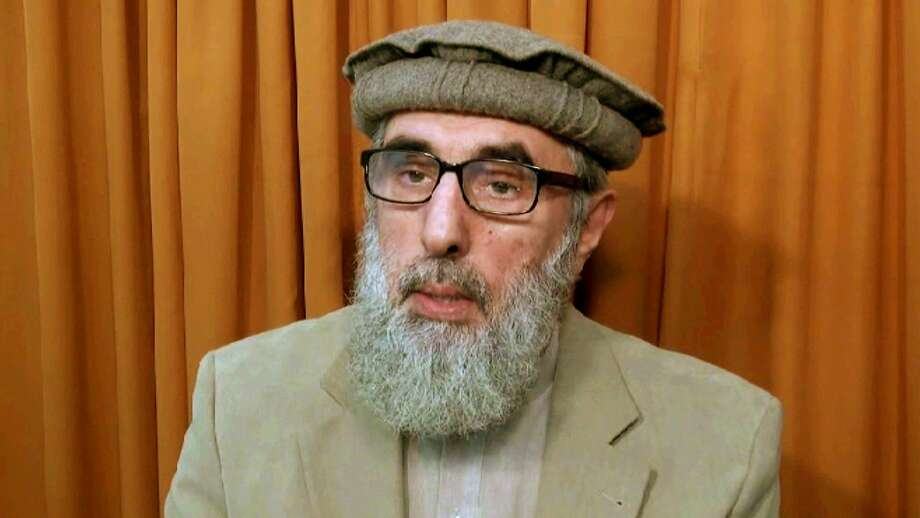 """This video image shows Afghan warlord Gulbuddin Hekmatyar, now in his late 60s, in an undisclosed location. He has been designated a """"global terrorist"""" by the United States. Photo: Associated Press"""
