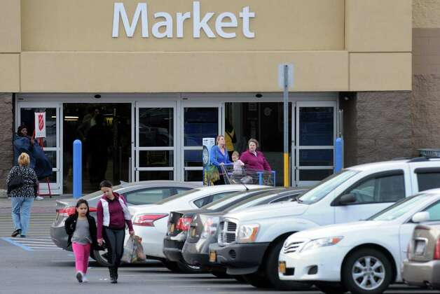 A shoppers at the Wal-Mart 279 Troy Road during Black Friday on Friday, Nov. 27, 2015, in East Greenbush N.Y. (Michael P. Farrell/Times Union) Photo: Michael P. Farrell / 10034454A