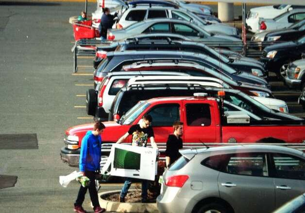 Shoppers hit the parking lot at Target in East Greenbush on Black Friday, Nov. 27, 2015. (Michael P. Farrell/Times Union)
