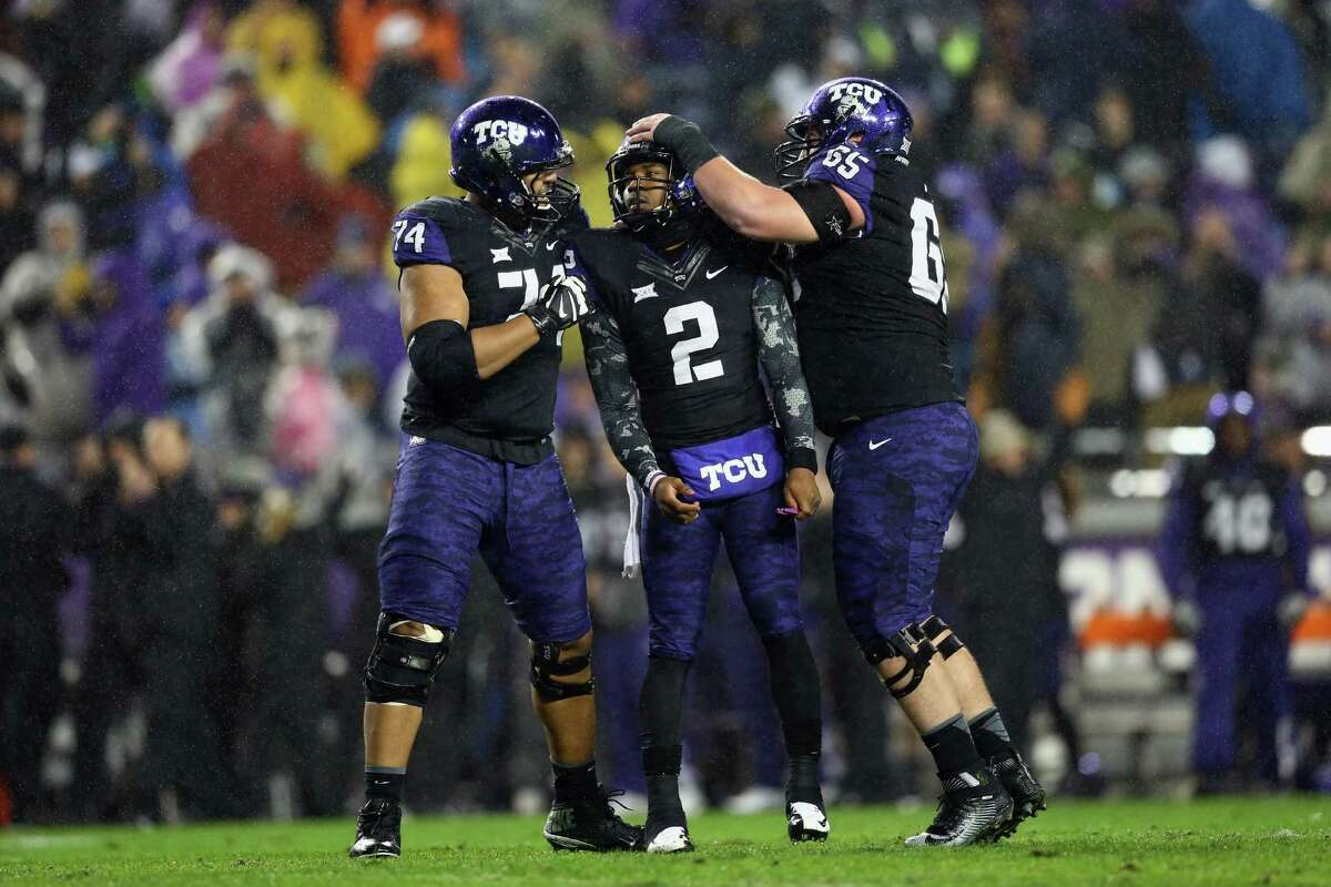 TCU (10-2) It looks like TCU is almost assuredly headed to San Antonio for the Alamo Bowl where the Horned Frogs will face a Pac-12 team, likely either Oregon or USC.