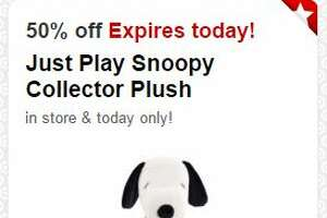 Today's 50% off Target Cartwheel toy deal: Just Play Snoopy Collection - Photo