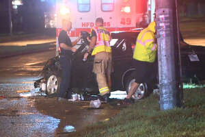 Photos: Nasty three-car wreck in west Houston - Photo