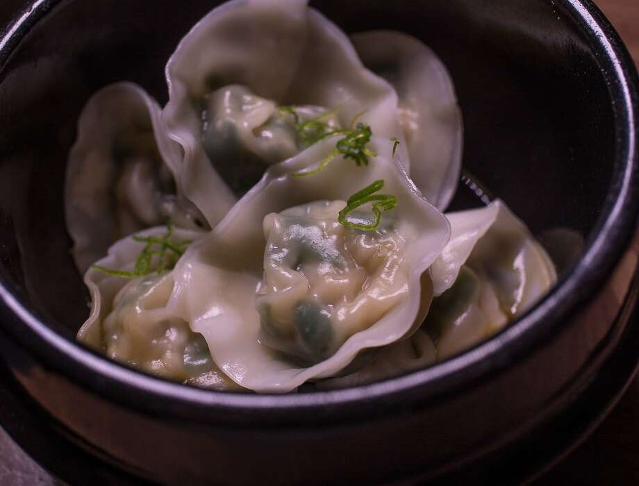Scallop-chive dumplings ($9) at Village Sake in Fairfax. Photo: John Storey, Special To The Chronicle