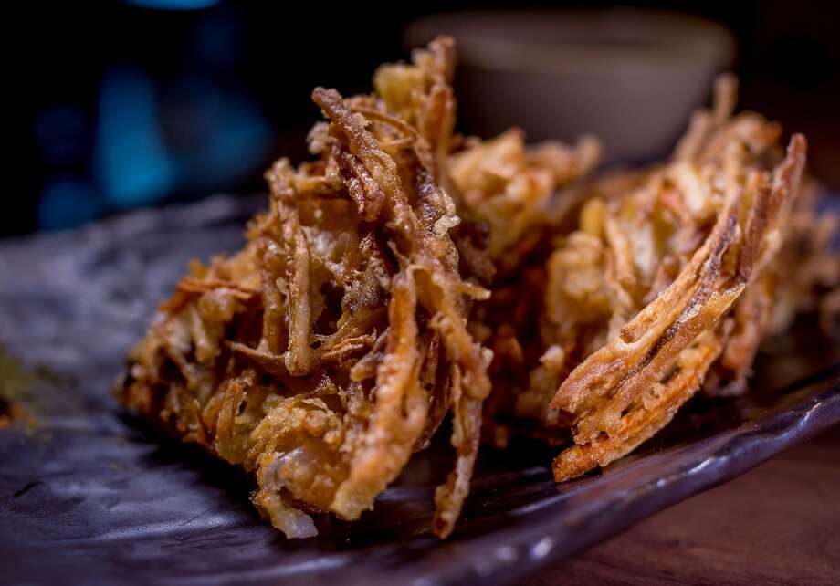 Burdock root tempura at Village Sake in Fairfax. Photo: John Storey, Special To The Chronicle