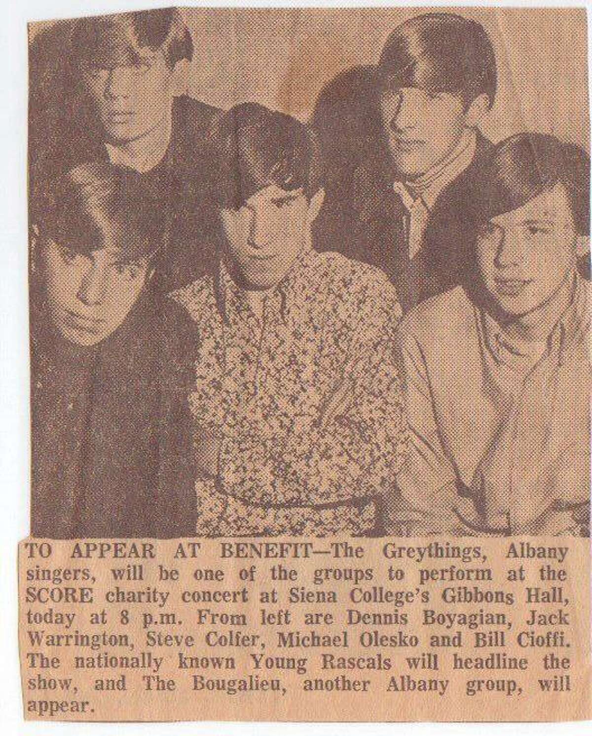 A clip from the Times Union on the Gray Things Facebook page shows the band in 1967.