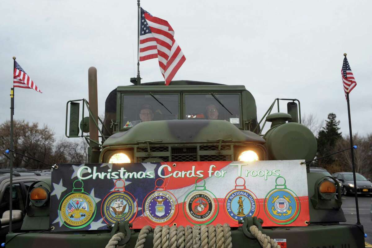 Christmas Cards to our Troops 2015 on Saturday Nov. 28, 2015 in Glenmont, N.Y. Last year they sent 120,000 from Glenmont NY to all Deployed troops around the world. (Michael P. Farrell/Times Union)
