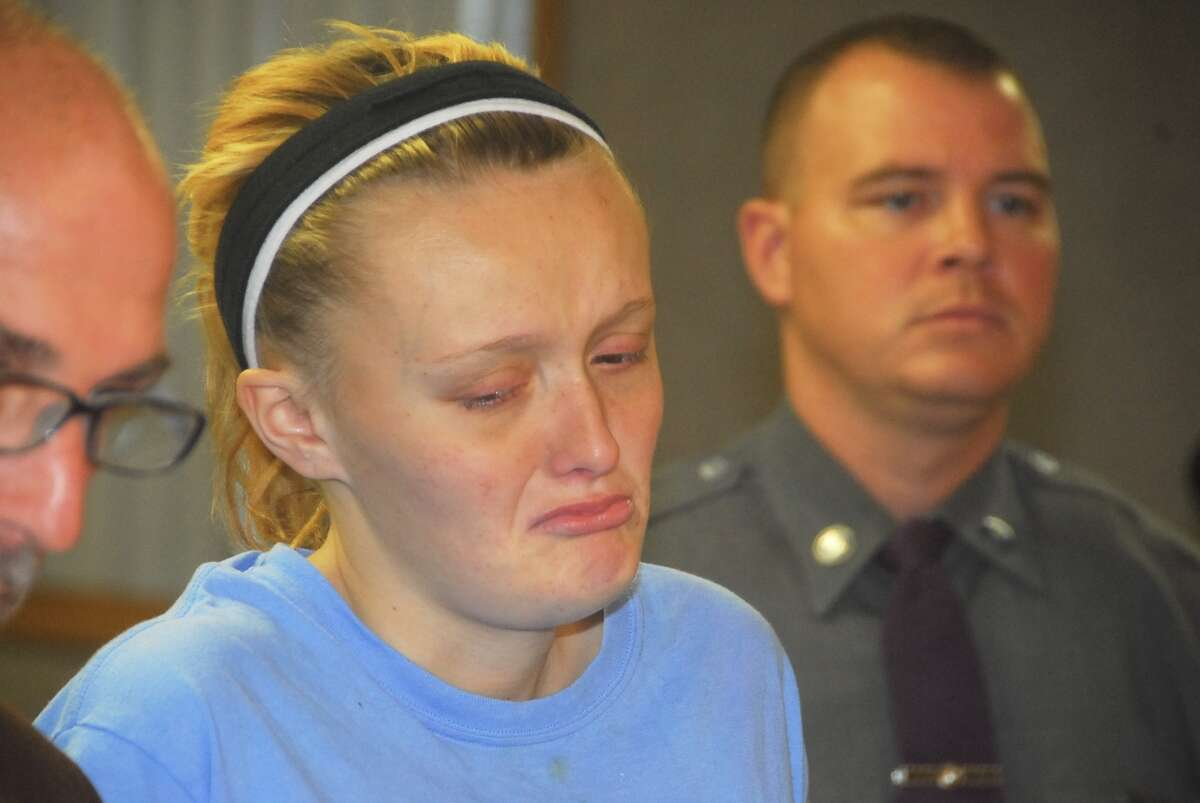 Tara J. Tomlin of Livingston, Columbia County, was charged Saturday, Nov. 28, 2015, with second-degree murder in connection with the discovery of her newborn boy found in a trash container Friday. (Lance Wheeler / Special to the Times Unon)