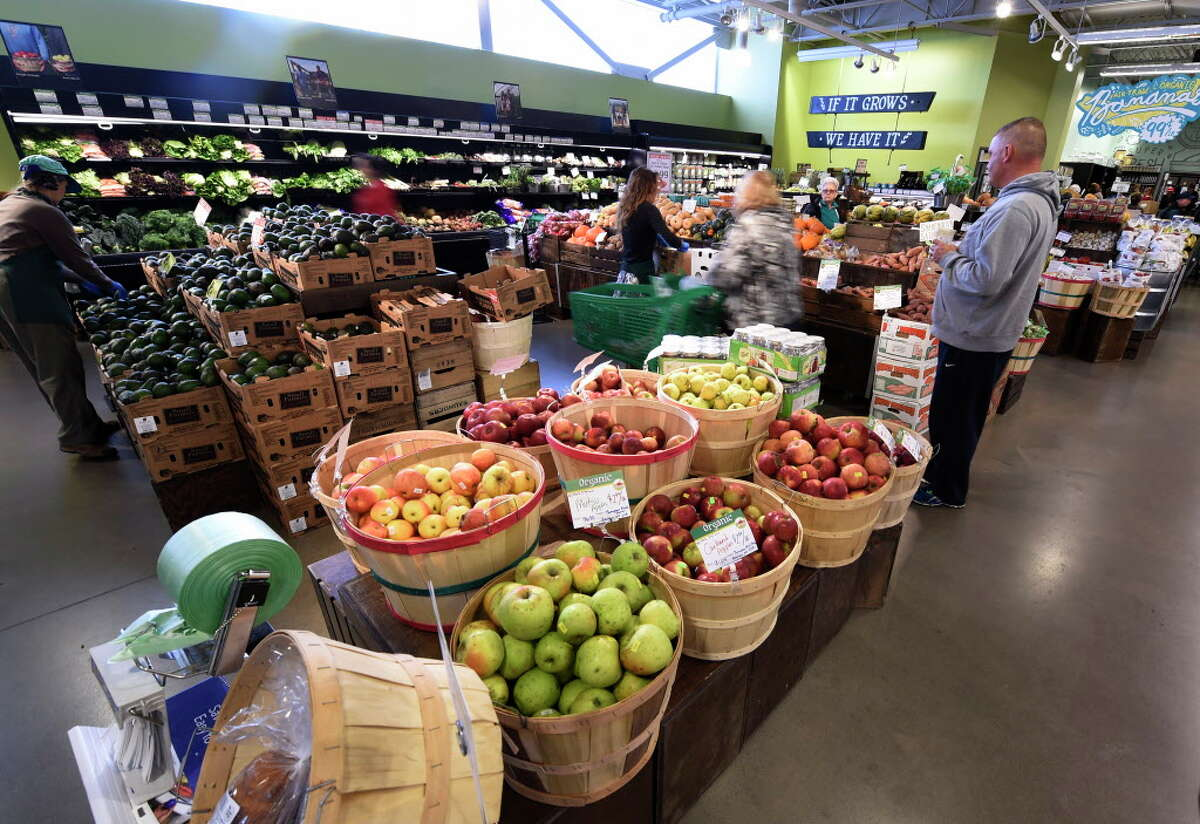 The produce area of the Honest Weight Co-op, an Albany store where there has been turmoil over the worker-member program. (Skip Dickstein/Times Union)