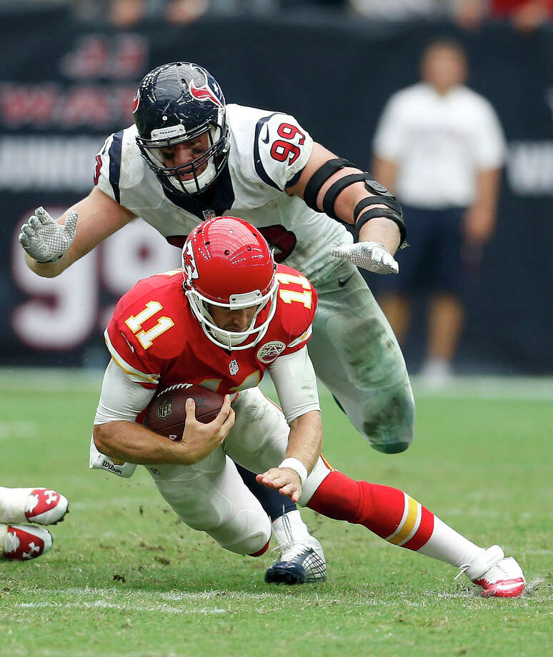 The Houston Texans and Kansas City Chiefs meet in the NFL Playoffs just months after the Hosuton Astros and Kansas City Royals met in the MLB playoffs.See more teams and cities who double-dipped on their playoff rivalry ... Photo: Karen Warren, Staff / © 2015 Houston Chronicle