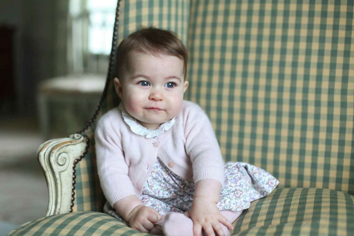 In this undated photo released Sunday Nov. 29, 2015, by Britain's Duke and Duchess of Cambridge, showing their daughter Princess Charlotte, at Anmer Hall in Sandringham, England. Princess Charlotte was born May 2, 2015, and the photo was taken by her mother, Kate Duchess of Cambridge, during November 2015. (Duchess of Cambridge via AP) ORG XMIT: LON810