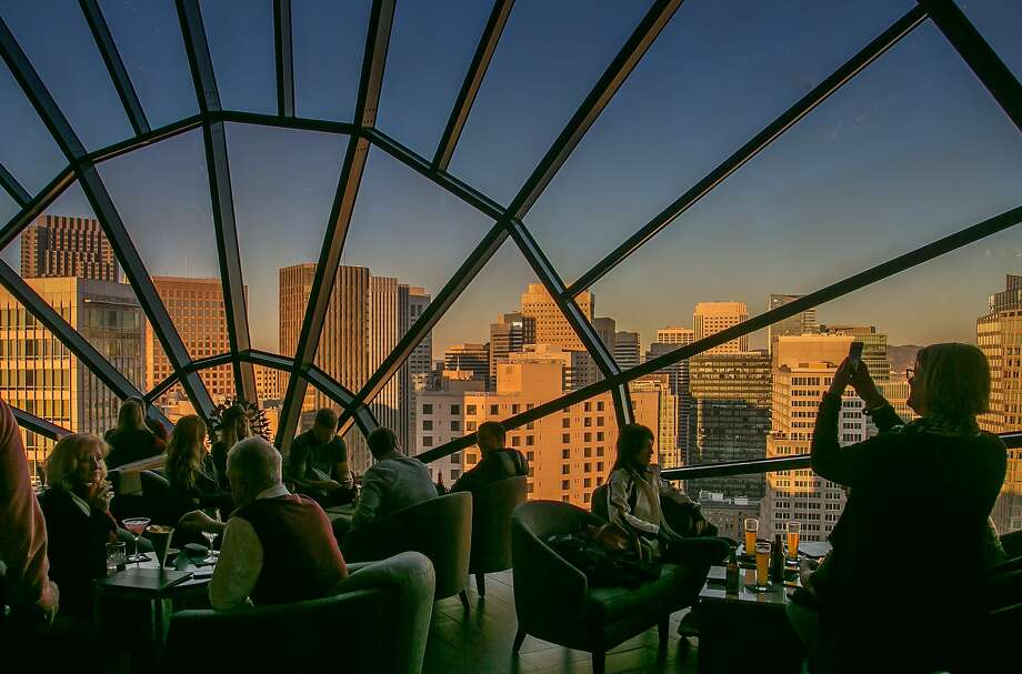The View LoungeThe 39th floor at 780 Mission St. in SoMaAtop the Marriott Marquis hotel in San Francisco's SoMa district sits one of the most beautiful vistas in the city, at the aptly named View Lounge. Scenery visible from the bar includes the bay, downtown buildings, and naturally, your drink. The cocktails skew pricy — the cheapest picks are $14 — but chances are, if you're going there, it's not just for the alcohol anyway. Photo: John Storey, Special To The Chronicle