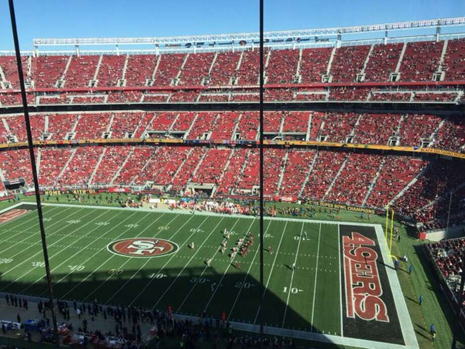 Empty sections at Levi's Stadium after kickoff of the 49ers-Cardinals game. Photo: Eric Branch, The Chronicle