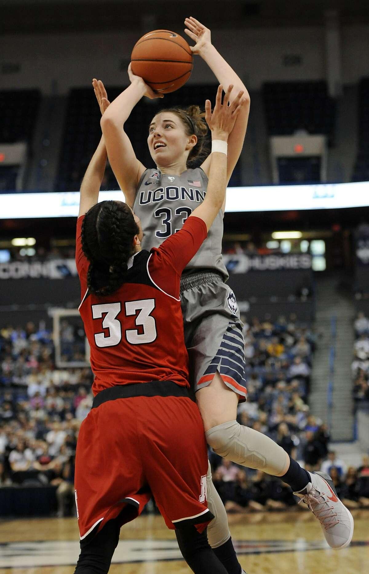 UConn vs. Nebraska - Nov. 28, 2015 W: 88-46 Led team in points: Breanna Stewart (25) Led team in rebounds: Breanna Stewart (10)
