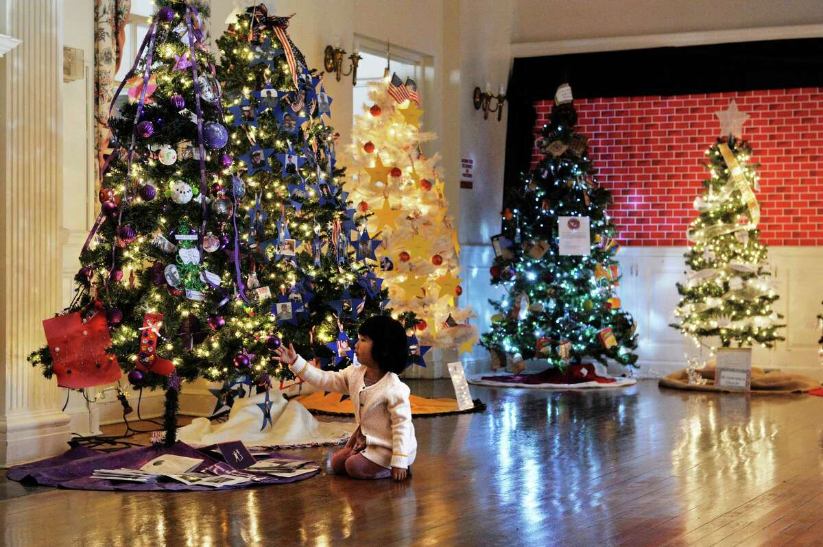 Morgan Her, three, of Albany reaches up to look at an ornament on one of the trees on display at the YWCA Northeaster NY, as part of the 2015 Festival of Trees presented by the YWCA Northeastern NY and the Schenectady County Historical Society seen here on Sunday, Nov. 29, 2015, in Schenectady, N.Y. The festival of trees runs through December 13th. The trees and be viewed Monday through Friday from noon to 5pm and on Saturday and Sunday from 10am to 4pm. Tickets cost $5 for adults, $2 for children 5 years to 15 years old, and children under 5 are free. Five of the trees on display this year will be raffled off after the last day of the festival. Raffle tickets are available at both the YWCA and the Historical Society. (Paul Buckowski / Times Union)
