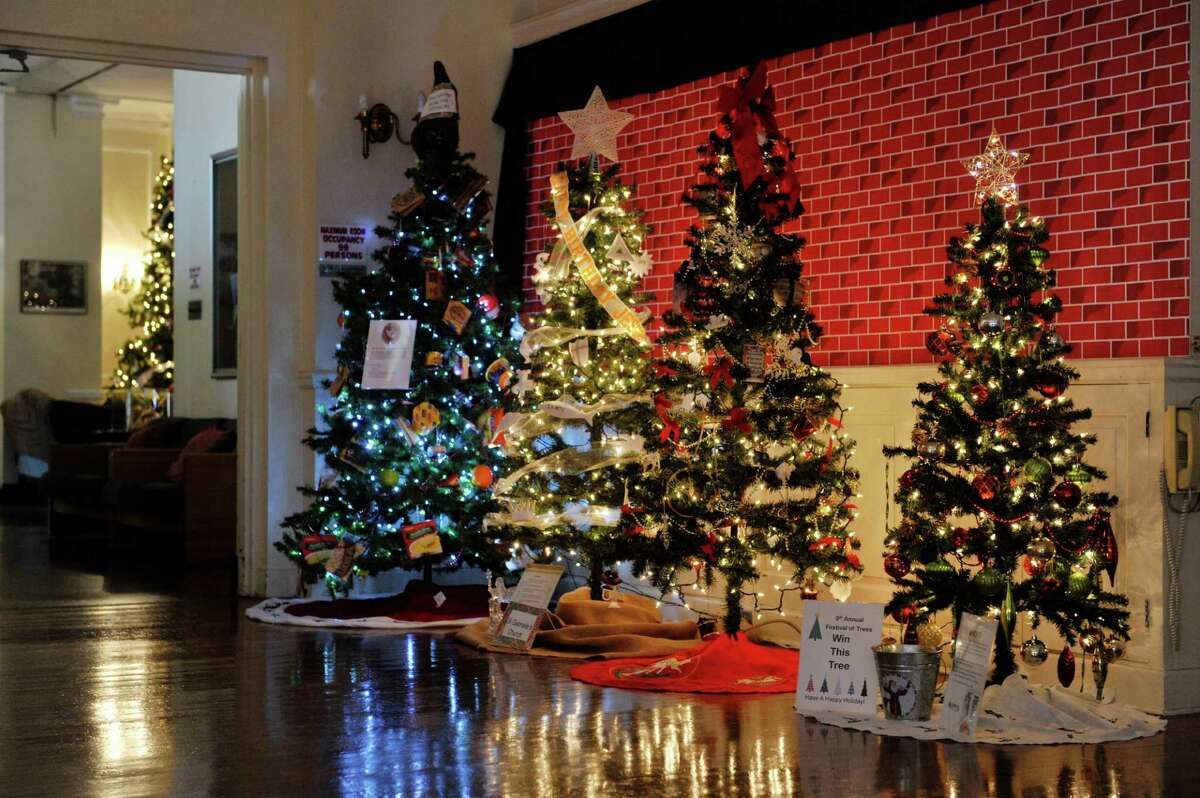 A view of some of the trees on display at the YWCA Northeaster NY, as part of the 2015 Festival of Trees presented by the YWCA Northeastern NY and the Schenectady County Historical Society seen here on Sunday, Nov. 29, 2015, in Schenectady, N.Y. The festival of trees runs through December 13th. The trees and be viewed Monday through Friday from noon to 5pm and on Saturday and Sunday from 10am to 4pm. Tickets cost $5 for adults, $2 for children 5 years to 15 years old, and children under 5 are free. Five of the trees on display this year will be raffled off after the last day of the festival. Raffle tickets are available at both the YWCA and the Historical Society. (Paul Buckowski / Times Union)