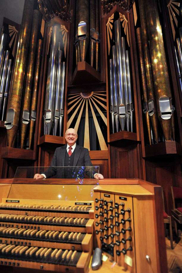 Jim Wetherald has been the Minister of Music at the First Presbyterian Church of Stamford since 1978 and has been operating the organ since it was installed in 1991. Photo: Michael Cummo / Hearst Connecticut Media / Stamford Advocate