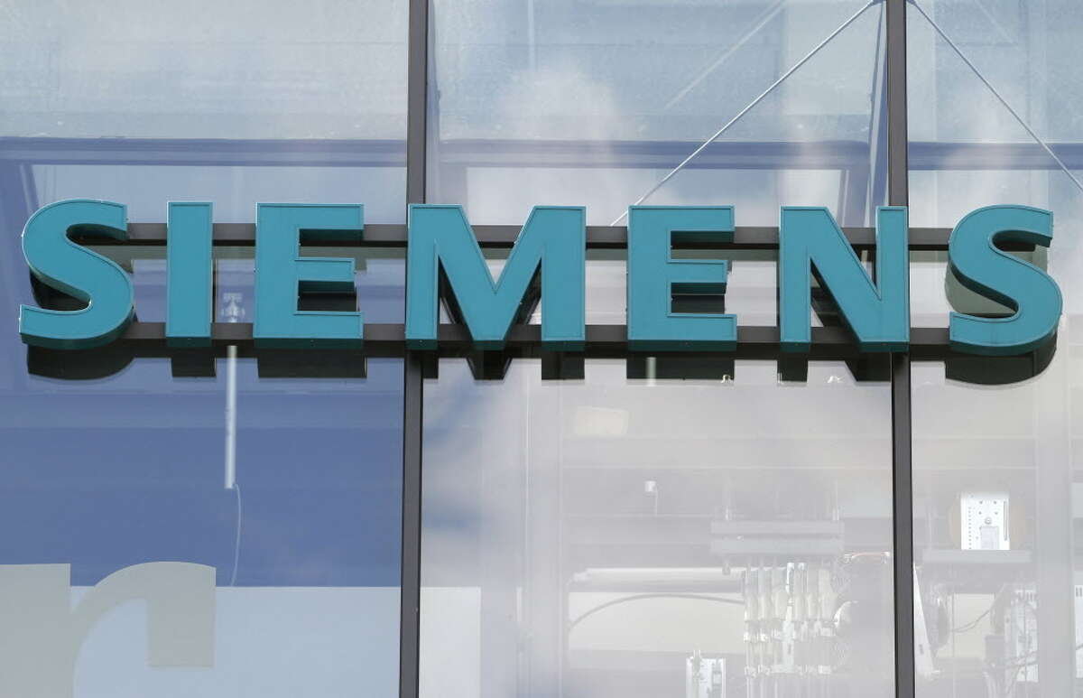 Logo of the German industrial giant Siemens AG at the historic construction plant in Berlin. Picture taken on October 12, 2011.