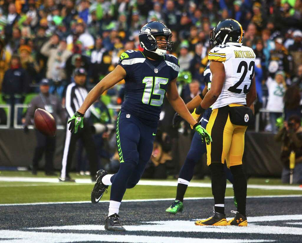 seahawks coach pete carroll on wr jermaine kearse we d love him seahawks jermaine kearse celebrates his touchdown in the fourth quarter of seattle s game against pittsburgh