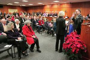 Greenwich's leadership sworn in before standing room only crowd - Photo