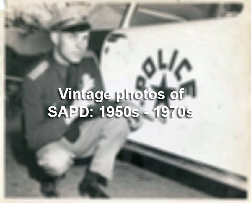 Vintage photographs of the San Antonio Police Department in the gallery above date back to this period in time, the Eisenhower era when men dominated the force with a fleet of 1957 Chevrolets. See the old police headquarters, a brick landmark on Dwyer Avenue, with its crammed supply rooms, along with state-of-the art walkie talkies and target practice.
