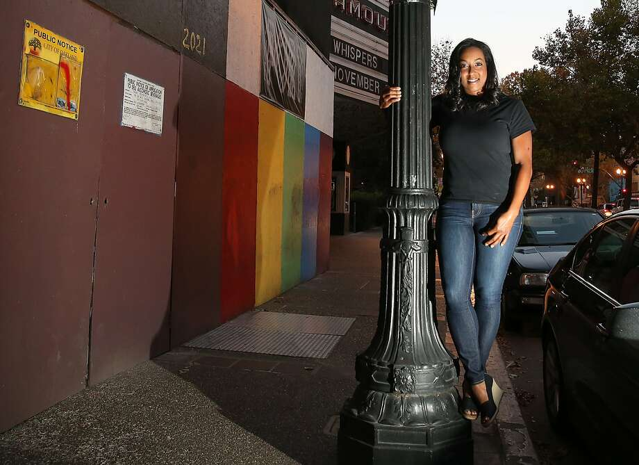 Michele Wilson, owner of now-closed Fillmore restaurant Gussie's House of Chicken and Waffles, shows her Oakland restaurant under construction next to the Paramount Theater in Oakland. Photo: Liz Hafalia, The Chronicle