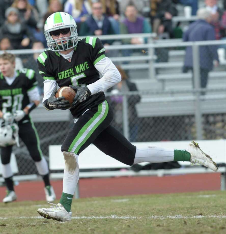 Photographs from the Thanksgiving Day football game between New Fairfield and New Milford high schools. Thursday, November 26, 2015, at New Milford High School, New Milford, Conn. Photo: H John Voorhees III / Hearst Connecticut Media / The News-Times