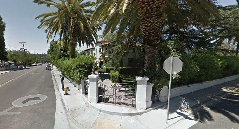 A lawsuit claims the Acacia Mansion in Ojai was unknowingly rented to a pornographic film company which damaged the property and illicitly filmed there. Photo: Google Street View