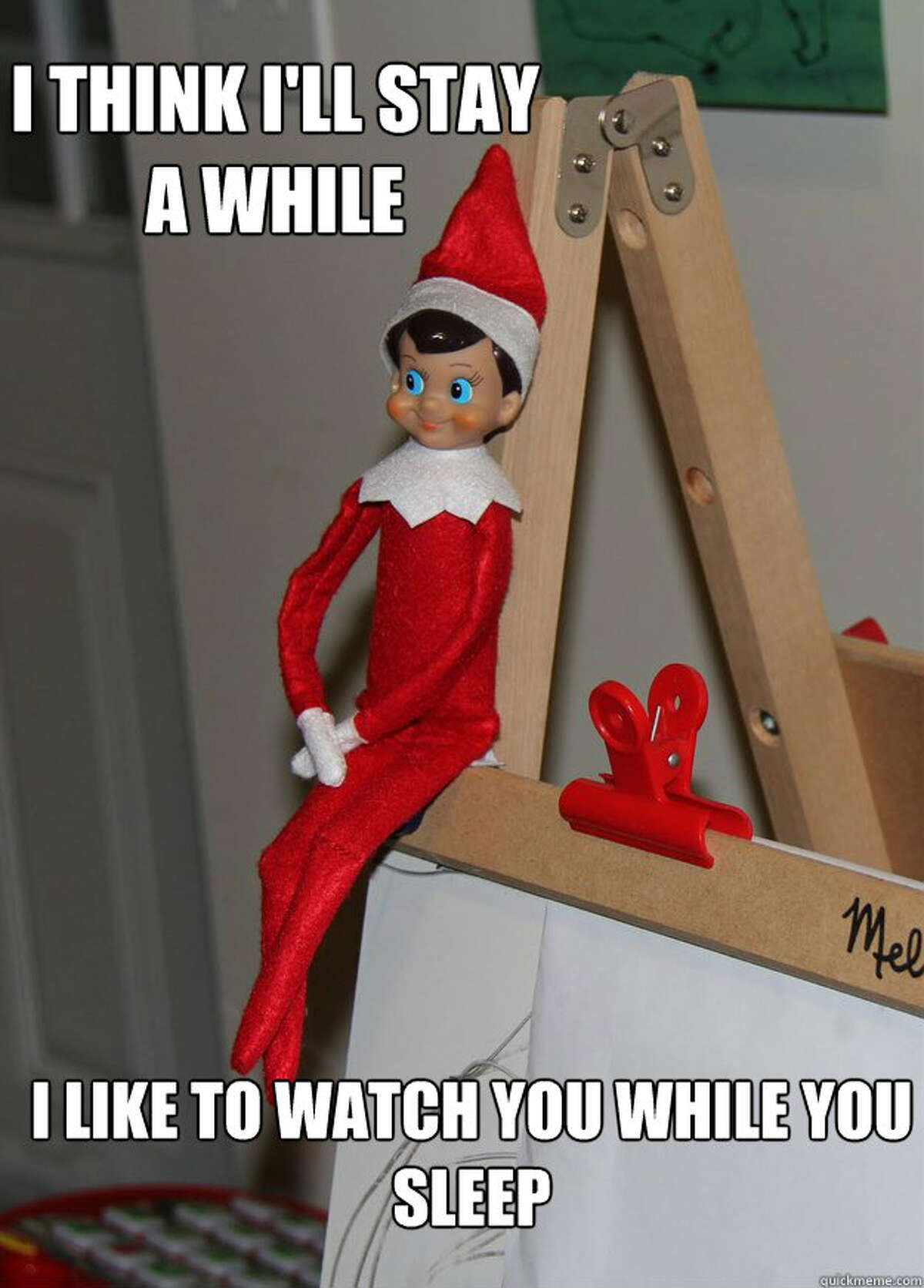 Elf on a Shelf meme via Quick Meme