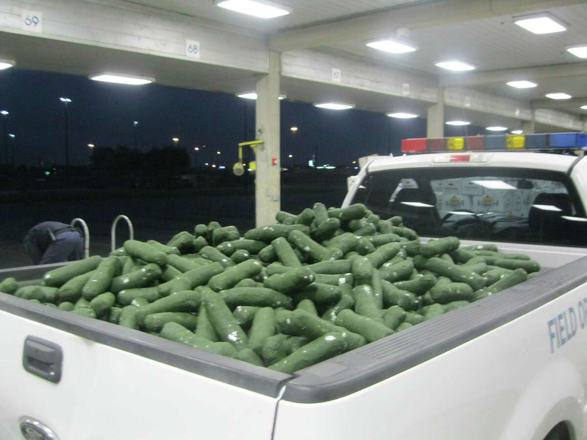 Agents with the U.S. Customs and Border Protection seized more than half a million dollars worth of marijuana in packages that were hidden in a shipment of cucumbers at the Pharr International Bridge on Nov. 28, 2015.