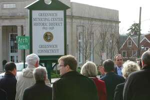 Downtown Greenwich historical district dedicated - Photo