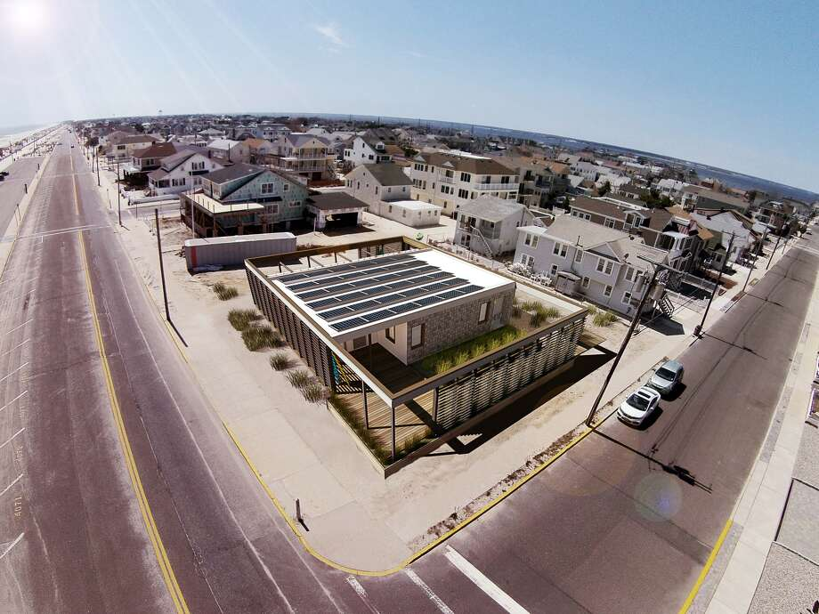 The Sure House model home for hurricane resistant building. (Stevens Institute of Technology)