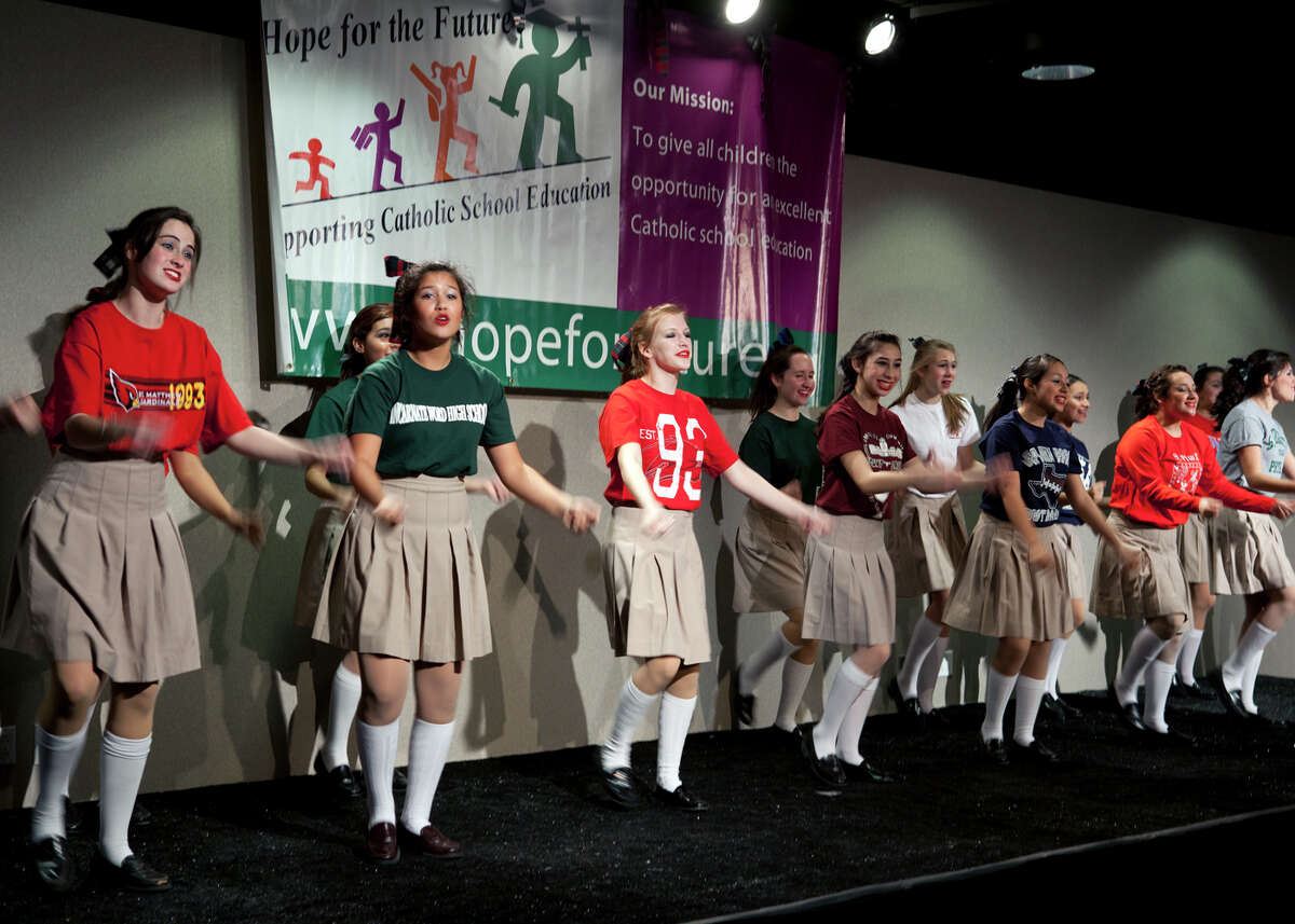 Students from Antonian High School perform at the Hope for the Future Khaki & Plaid Gala in support of Catholic education at The Vistas at Valero.
