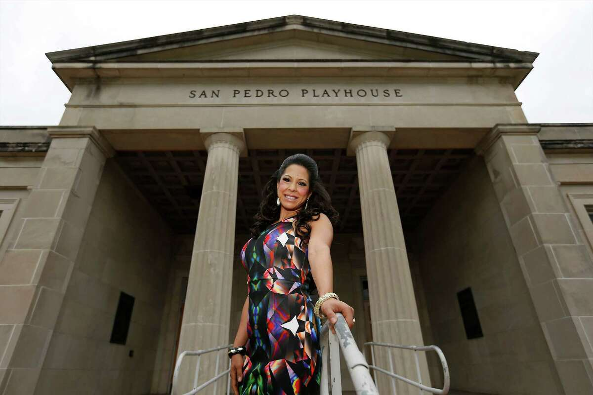 Sandra Trevino at Playhouse San Antonio, where she volunteers her time for various productions.