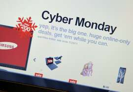 "Cyber Monday specials on the Target website November 28, 2011 in New York. Consumers were likely to continue the Black Friday trend on Monday, known as ""Cyber Monday"" for the deep discounts offered on Internet retail sites.      ~~"