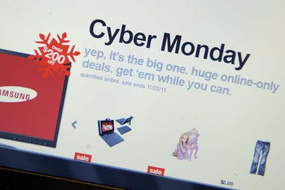 """Cyber Monday specials on the Target website November 28, 2011 in New York. Consumers were likely to continue the Black Friday trend on Monday, known as """"Cyber Monday"""" for the deep discounts offered on Internet retail sites.      ~~"""