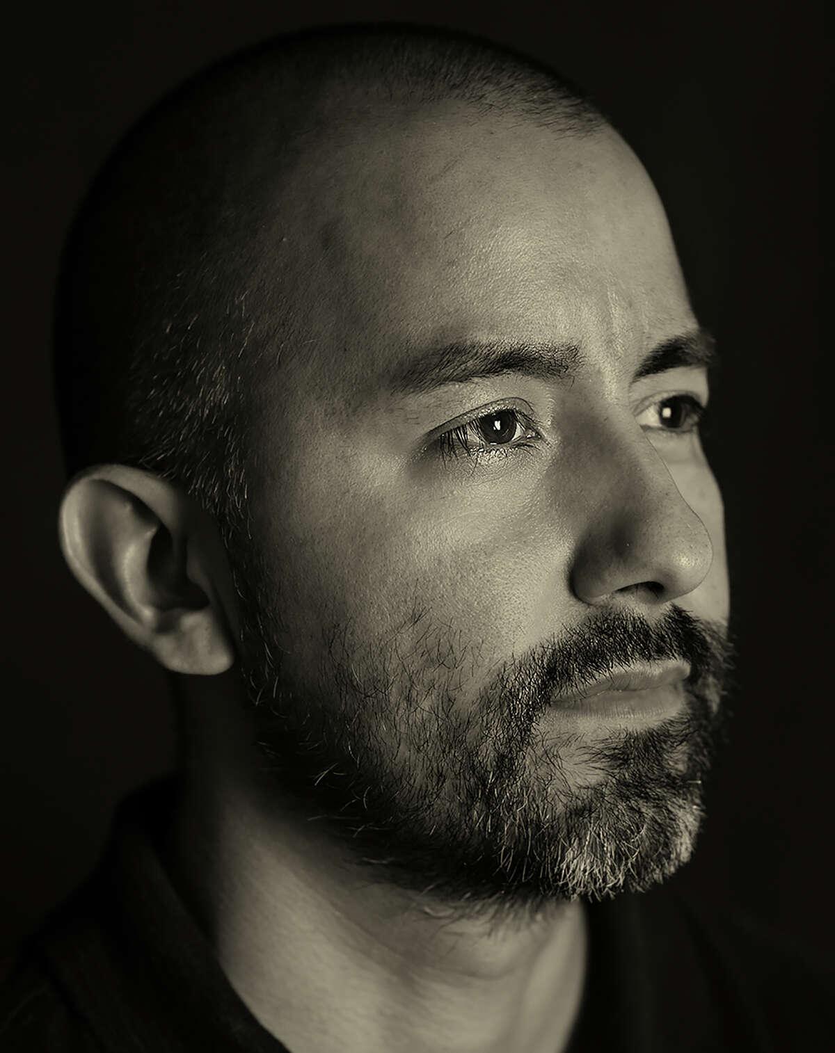 "Vincent Valdez is one of the artists in Ramin Samandari's ""San Antonio Faces of Art"" portrait series."