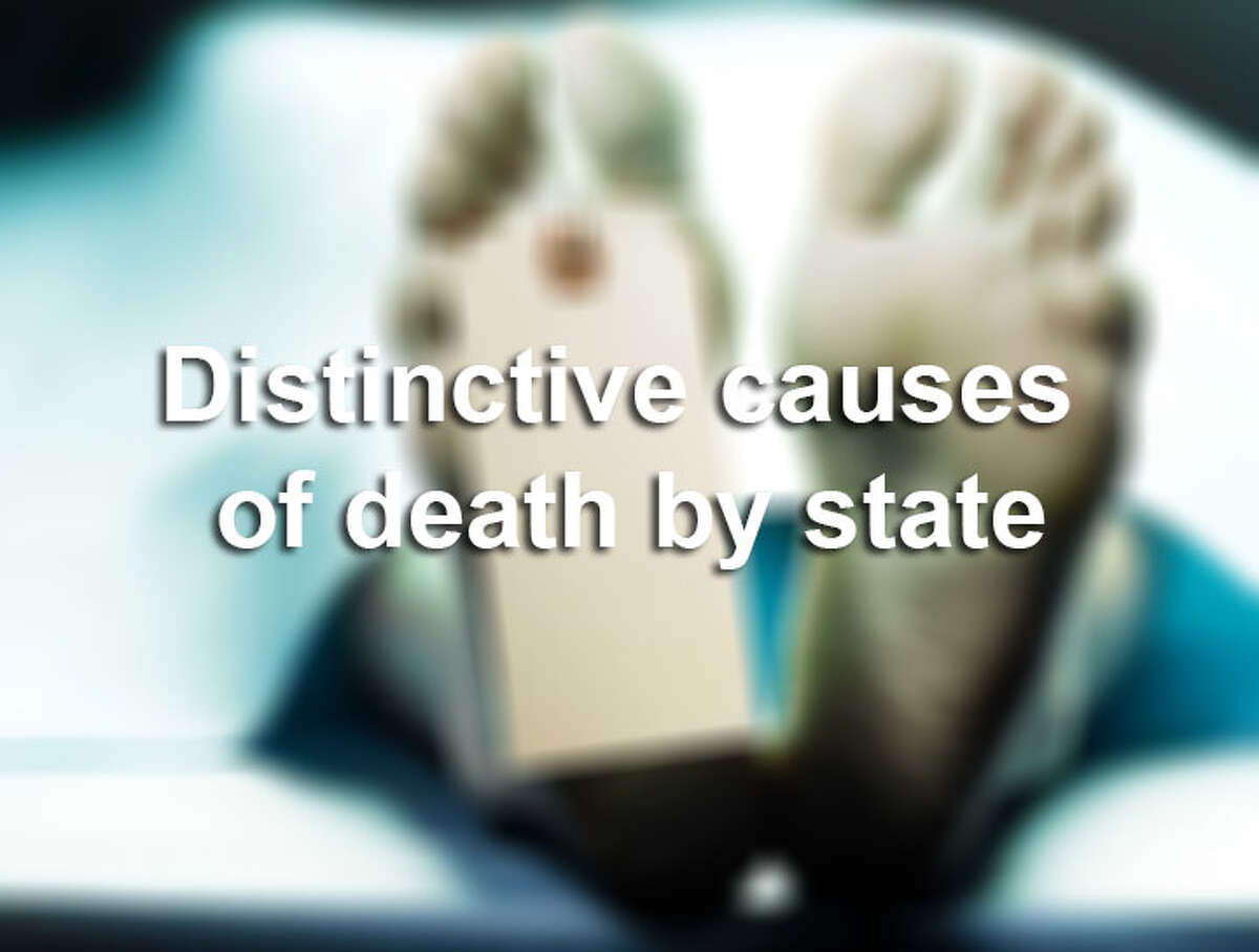 Higher than average causes of death by state.