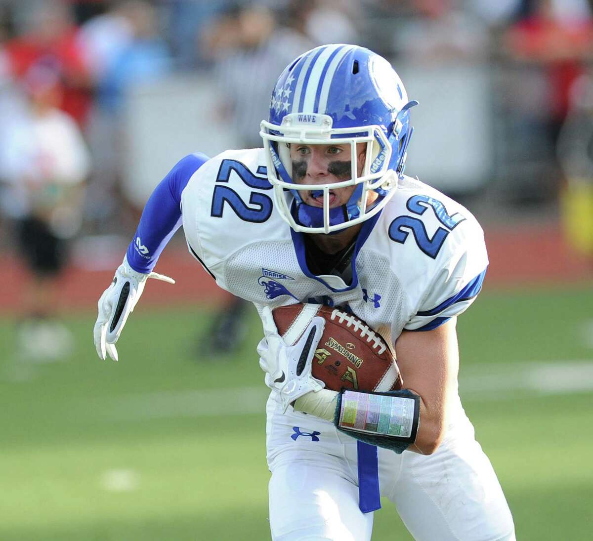 Hudson Hamill is one of the weapons that Darien quarterback Timmy Graham has at his disposal.