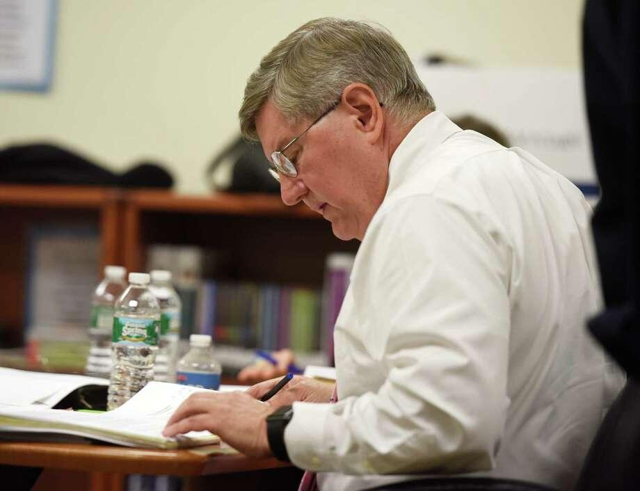 Greenwich Superintendent of School William McKersie's attorney Thomas Mooney. Photo: Tyler Sizemore / Hearst Connecticut Media / Greenwich Time