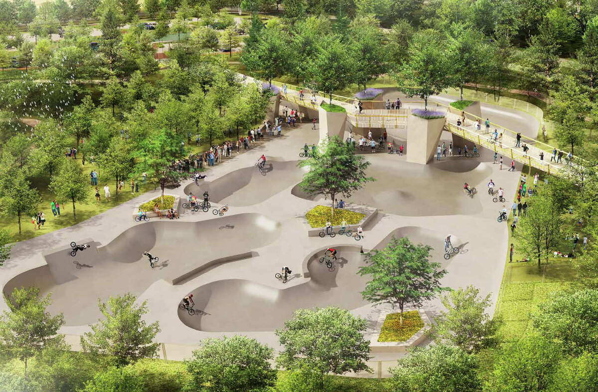 ******NOTE THAT THIS IS AN ARTIST RENDERING. NEEDS TO BE NOTED IN CREDIT/CUTLINE******* Artist Rendering courtesy The Office of James Burnett Landscape Architecture North Houston will be home to a 20-acre bike park, equipped with a BMX racetrack and facilities for more recreational biking. The park, which will cost between $13 and $14 million, will be an extension of North Houston Skatepark and Dylan's Park at Kuykendahl and Rankin. Construction began after a groundbreaking ceremony Tuesday morning, and is expected to be completed by fall 2017.