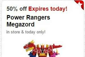 Today's 50% off Target Cartwheel toy deal: Power Rangers Megazor - Photo