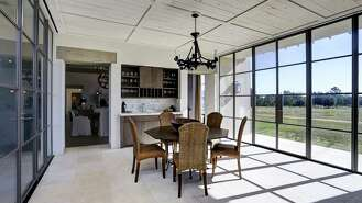 Modern, eclectic style in a rural setting.